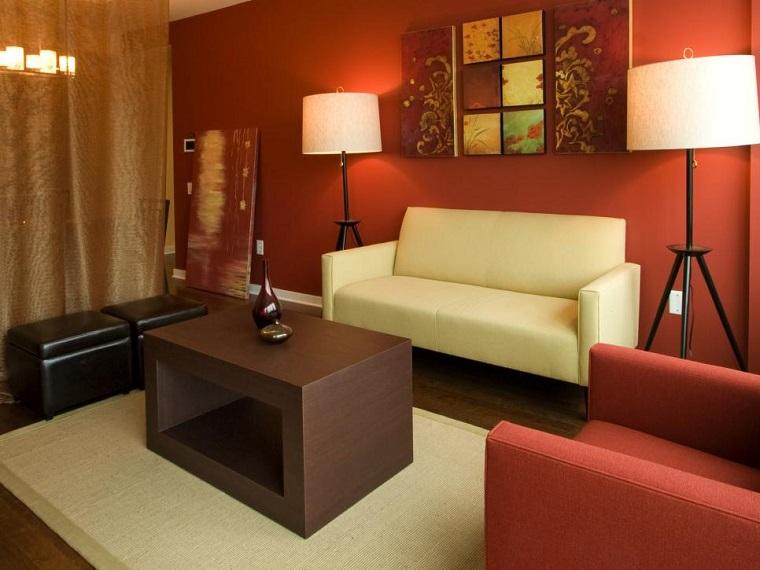 salon moderno lineas simples decoracion ideas