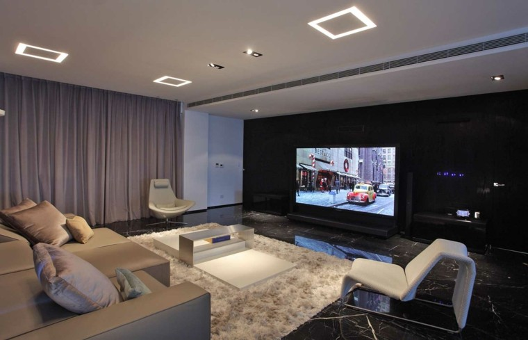 salon moderno suelo baldosas marmol