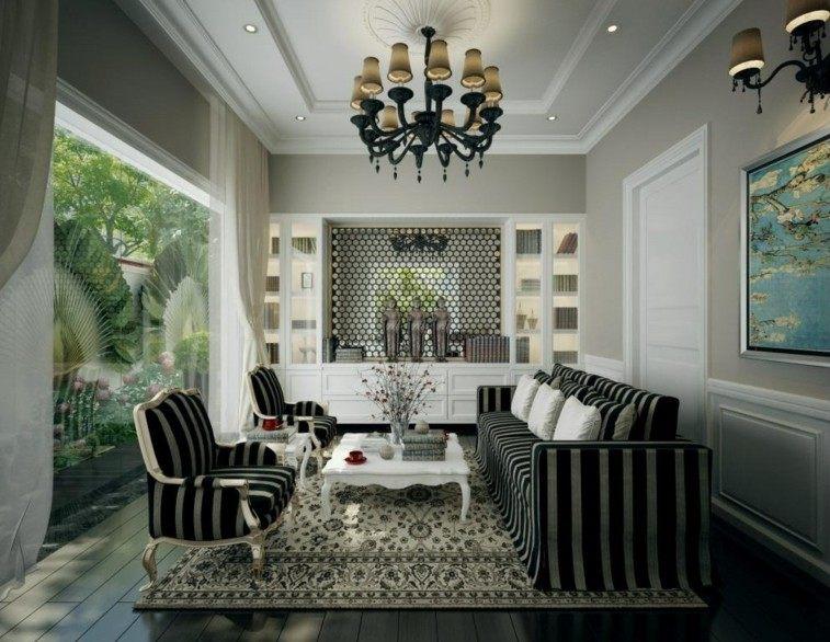 salon estilo retro decorar salas