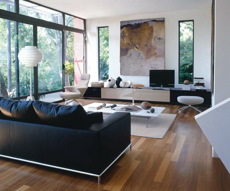 salon suelo parquet laminado madera