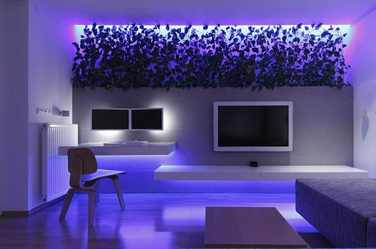 Iluminacion indirecta led salon y salas de estar - Luces led de colores ...
