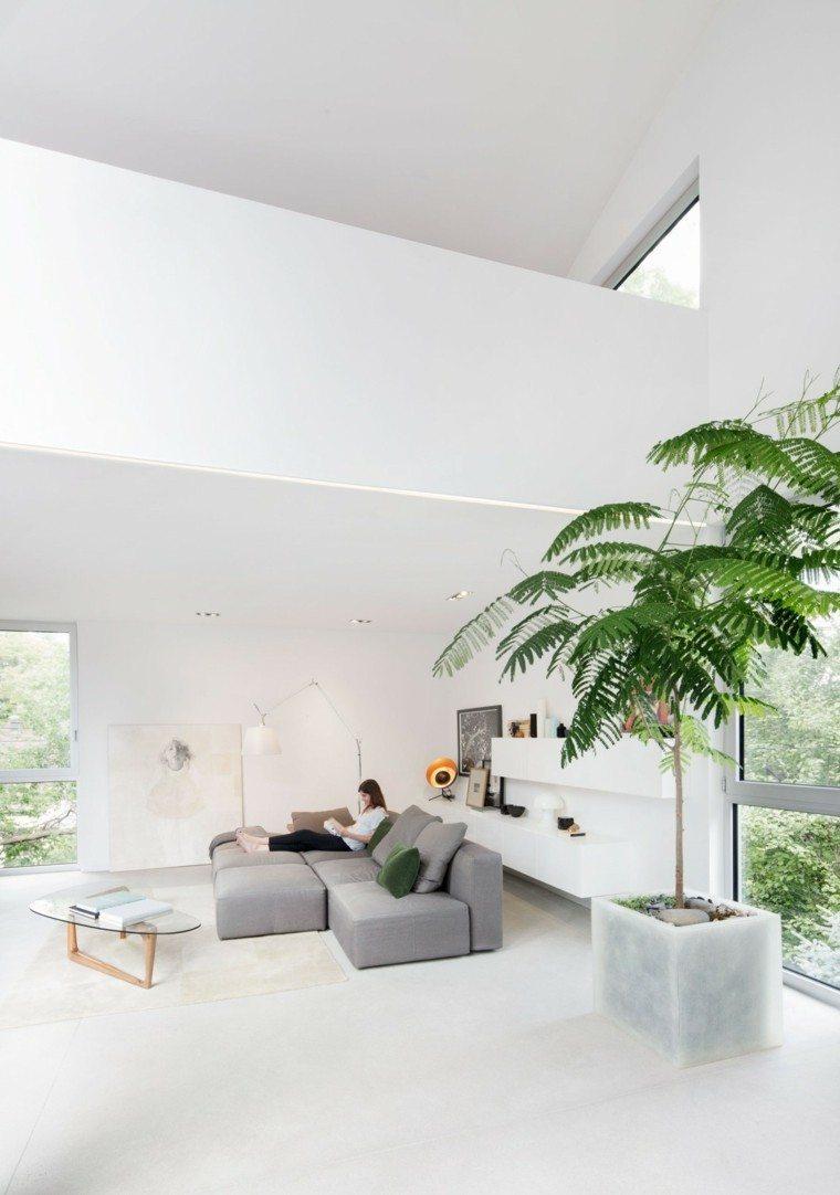 salones diseño mesa jardineras iluminacion