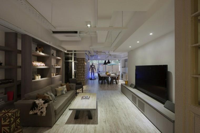 salones diseño moderno estantes accesorios