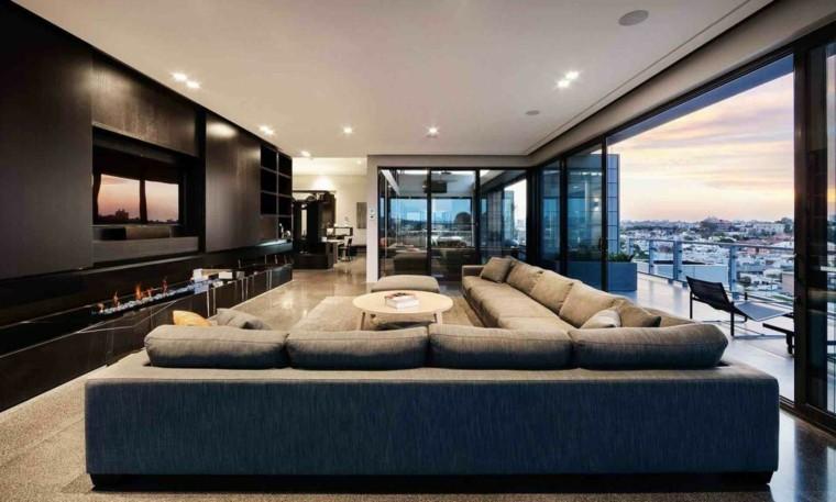 salones diseño muebles led sofa