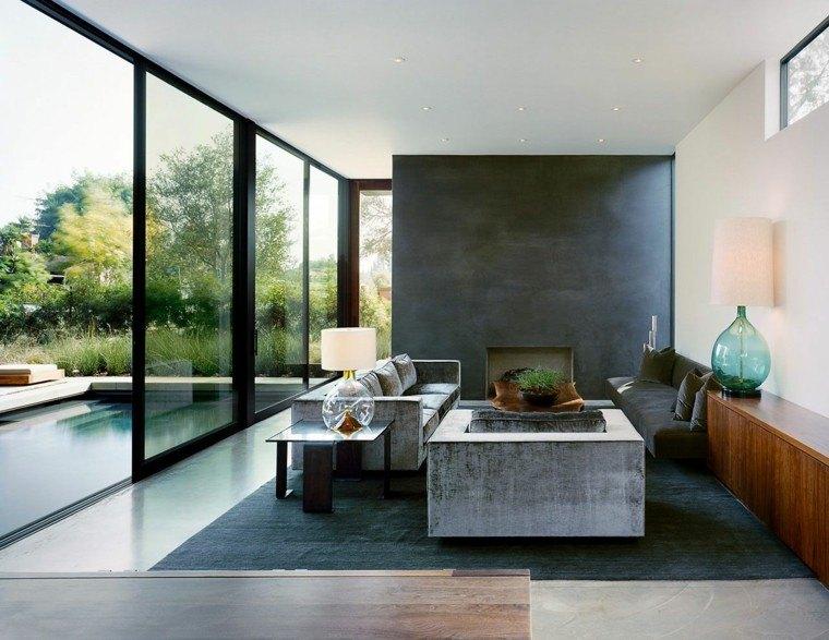salones diseño ventanales jardin luz patio
