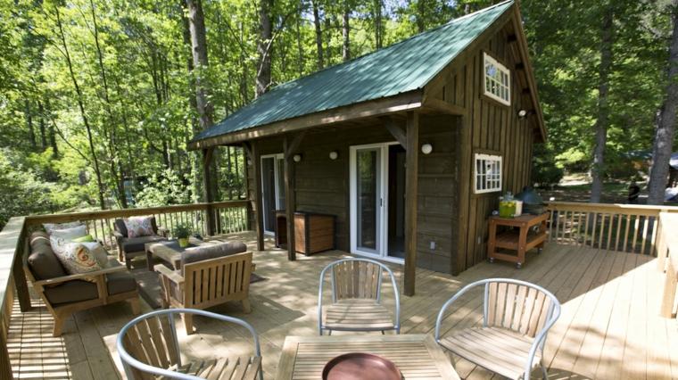 salones exterior cabaña campo muebles