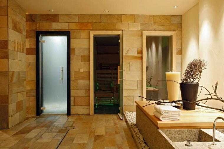 sauna obra baño casa lujo