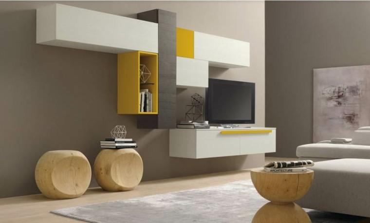 seccion amarilla blanca salon moderno