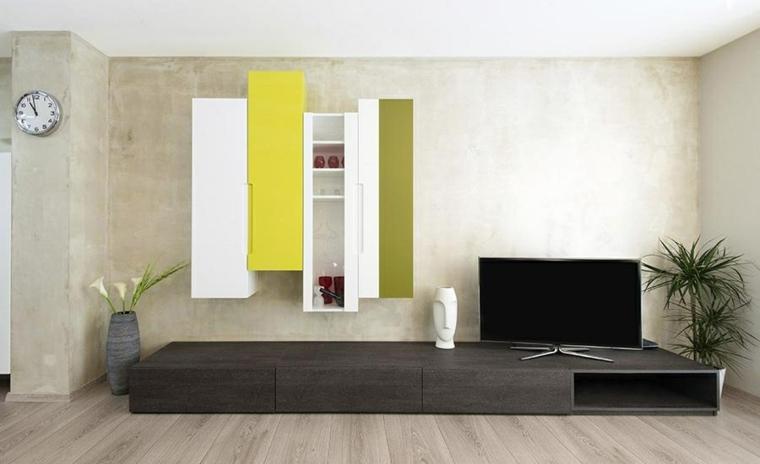 seccion salon amarillo blanco verde
