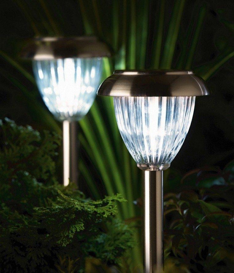 setas luces solares metal jardin