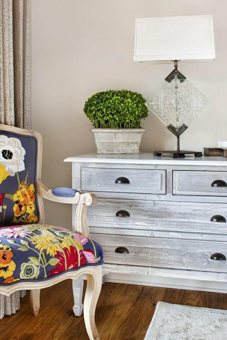 shabby chic silla comoda motivos florales estilo ideas