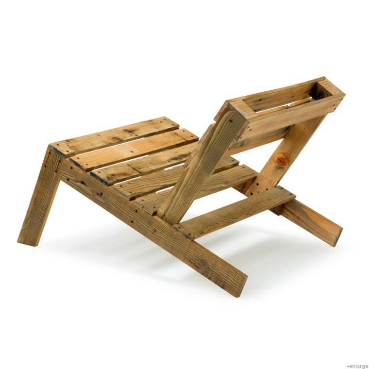 silla reclinada madera diy pequeña