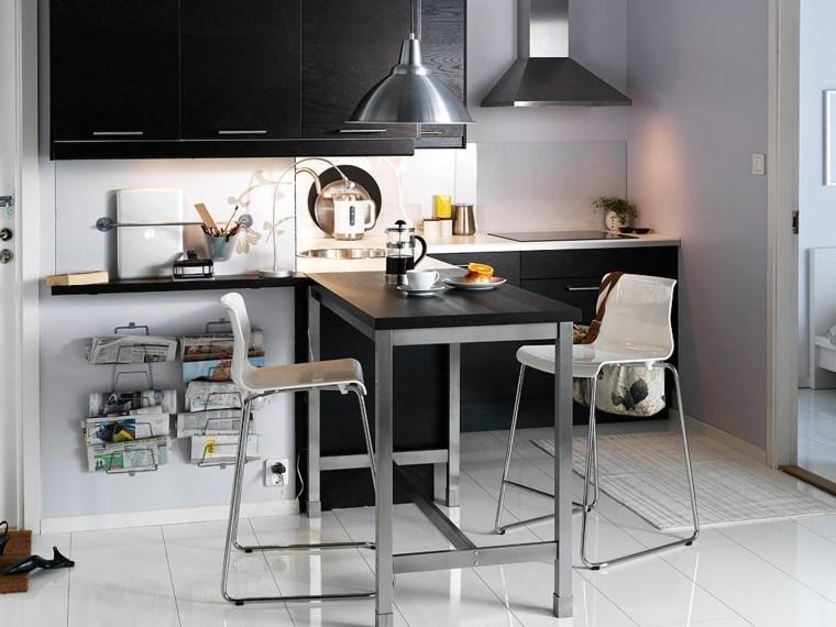 sillas altas cocina moderna comedor