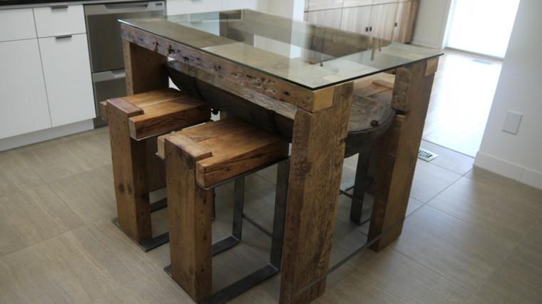 sillas bancos cristal mesa baja uncional