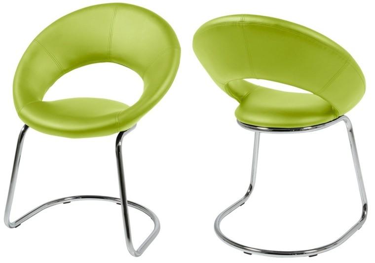 sillas baratas cuero verde ideas vibrante comedor