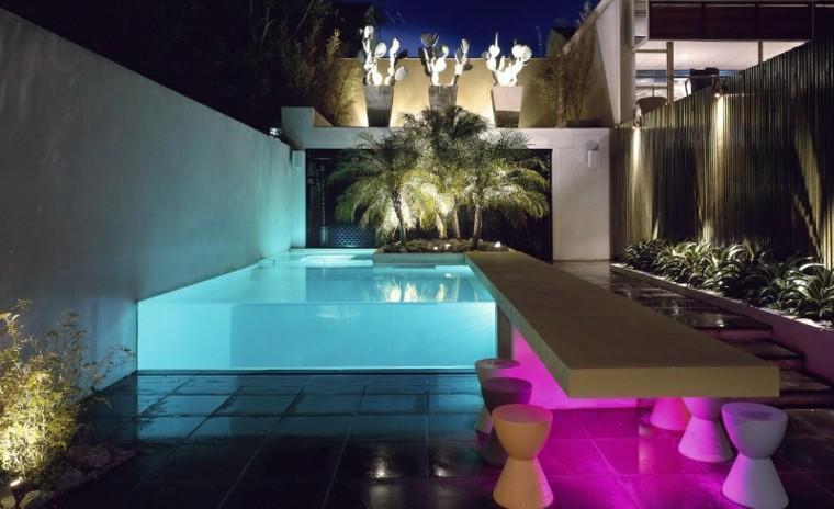 sillas barra piscina moderna colorido