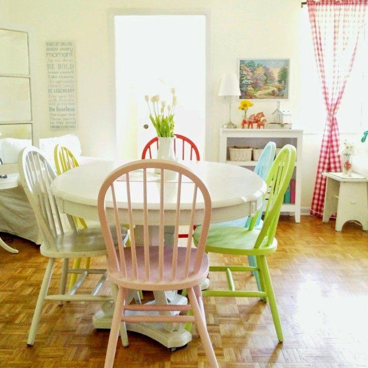 sillas comedor barrtas colores alegres casa moderna