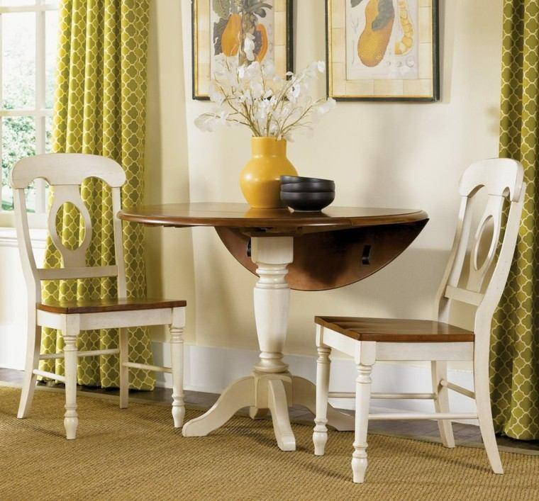 sillas de comedor baratas madera marron blanco modernas