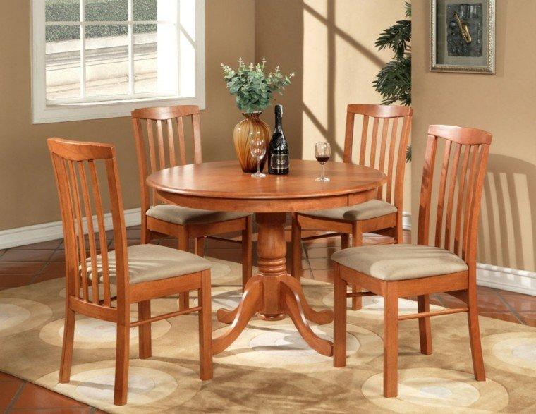 Sillas de comedor baratas modelos bonitos for Comedor 4 sillas madera