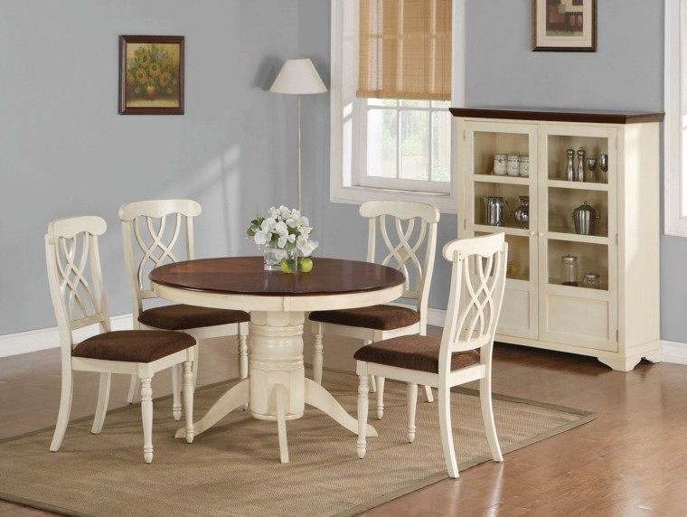 sillas de comedor barratas color blanco marron ideas