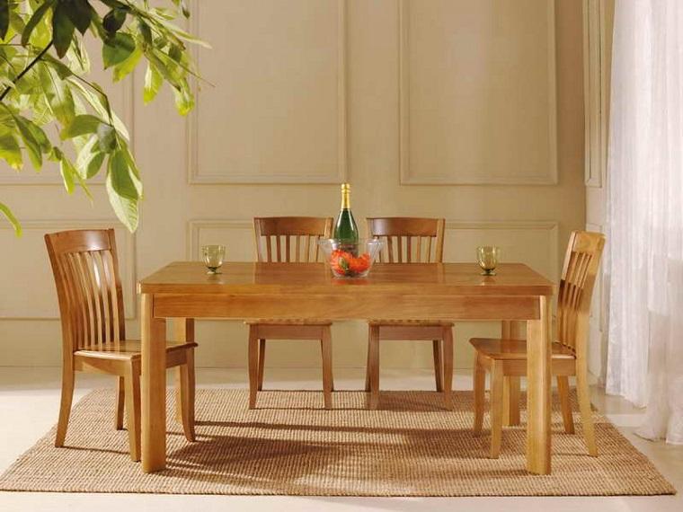 Sillas de comedor baratas modelos bonitos for Comedores de madera baratos