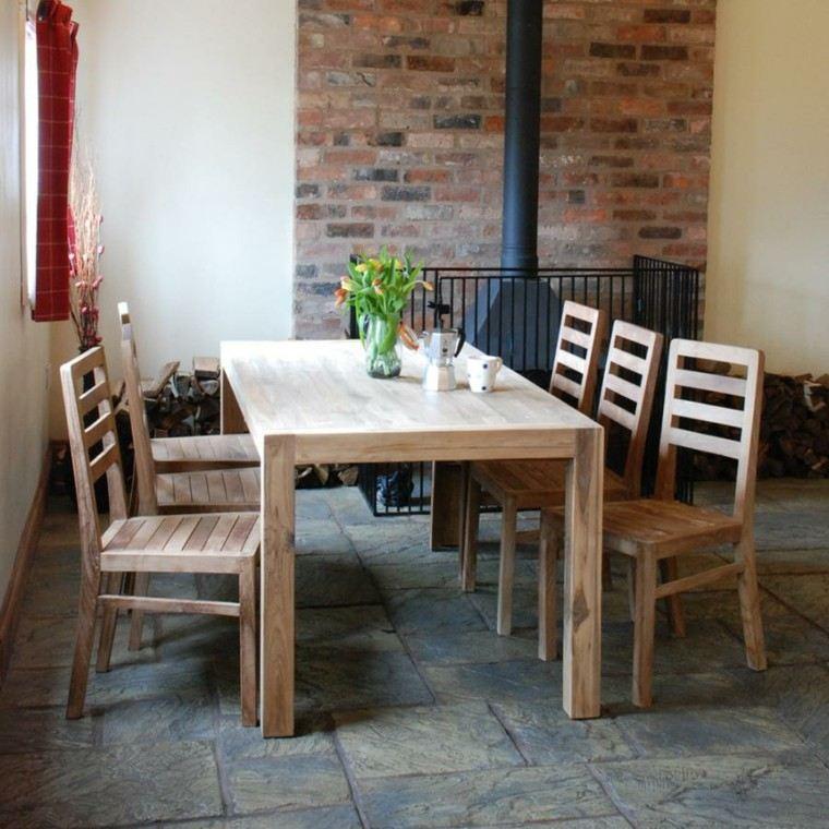 sillas de comedor barratas estilo rustico ideas
