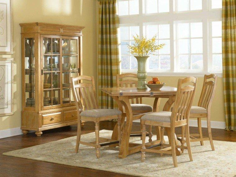 sillas de comedor barratas ideas madera bonitas cojines