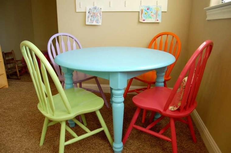 sillas de comedor barratas inspirados colores vibrantes ideas