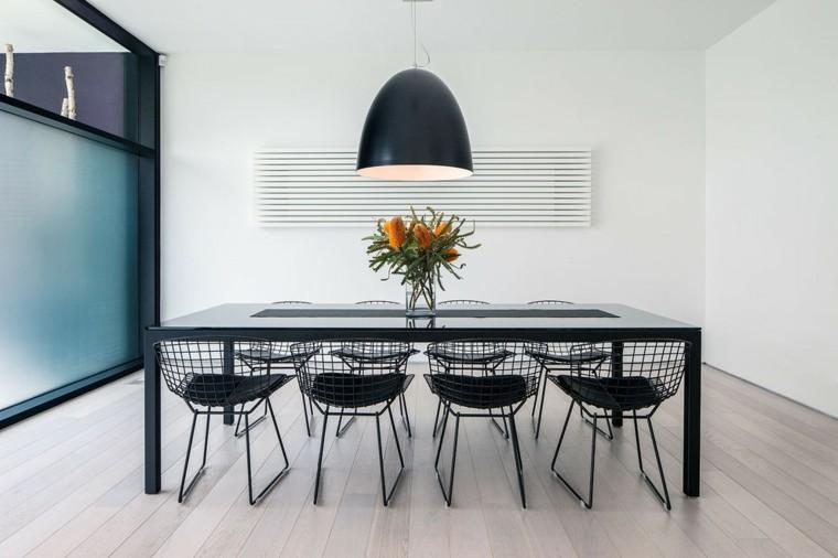 sillas metal negras estilo moderno