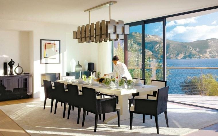 sillas negras comedor vistas mesa