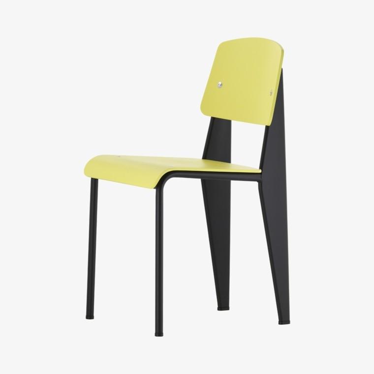 sillas negro verde comedor ideas modernas