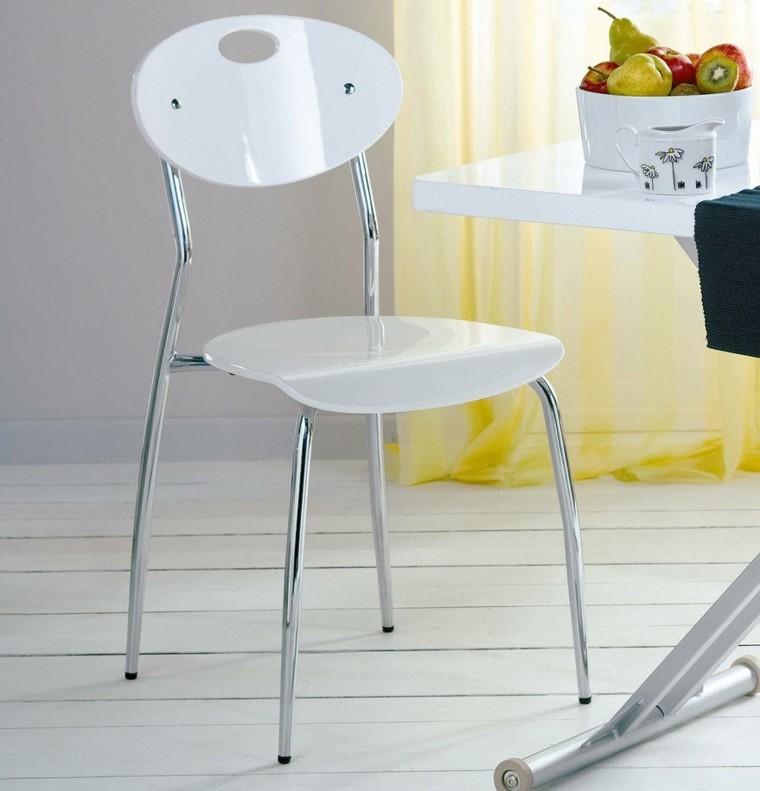sillas plastico acero ideas baratas comedor blanco