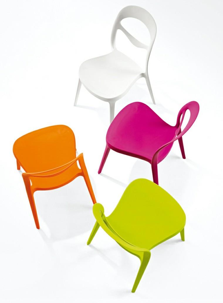 Sillas de comedor baratas modelos bonitos for Comedor sillas de colores
