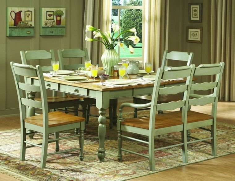 green kitchen table and chairs sillas de comedor modernas cincuenta ideas geniales 6941
