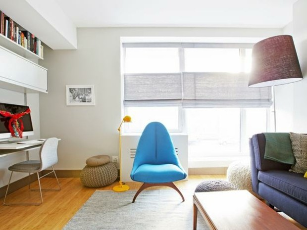 sillon color azul celeste moderno