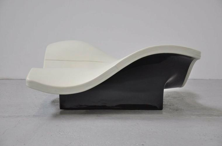 sillon sofa negro blanco moderno