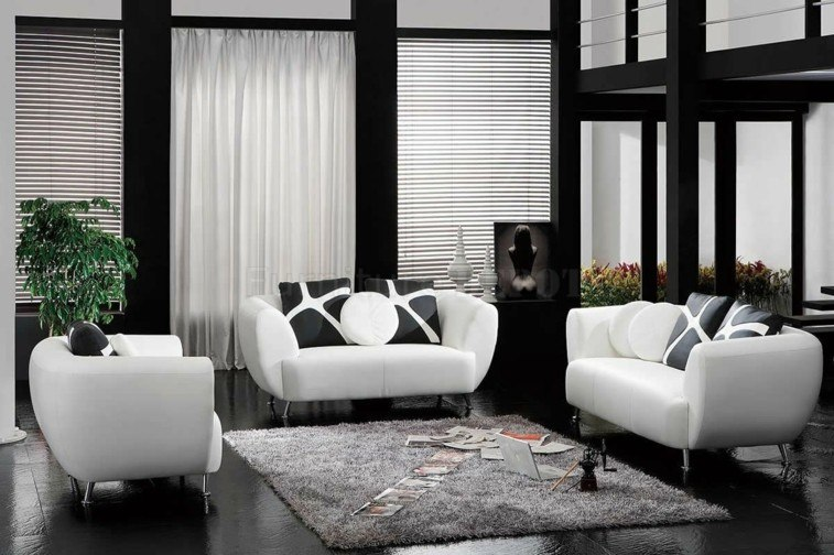 Decorar salas de estar en blanco y negro se atreve for Sillones living para espacios reducidos