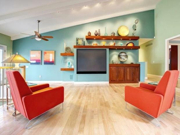 colores vivos para la decoraci n de salas de estar. Black Bedroom Furniture Sets. Home Design Ideas