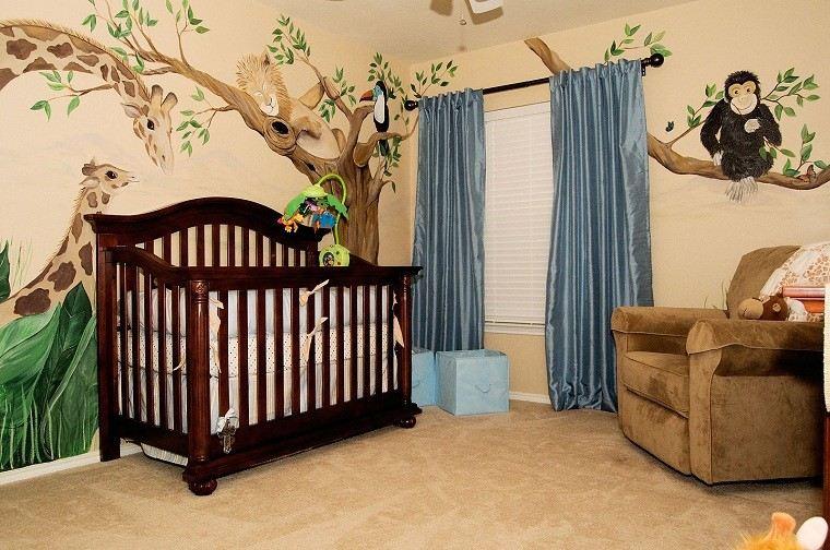 sofa cortinas animales selva tematica diseno
