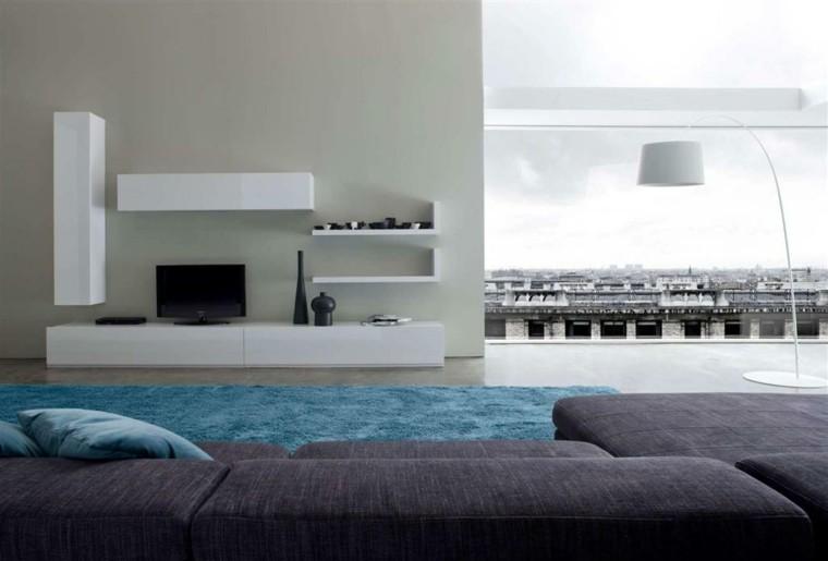 sofa color morado muebles blancos