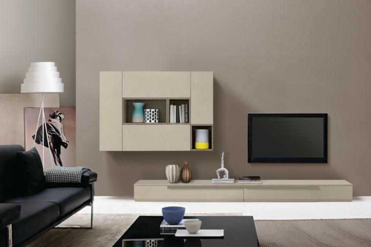 sofa negro mueble color beige