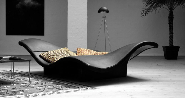 Muebles de salon modernos de cuero