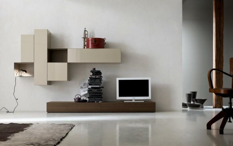 Muebles de salon modernos seccion beige