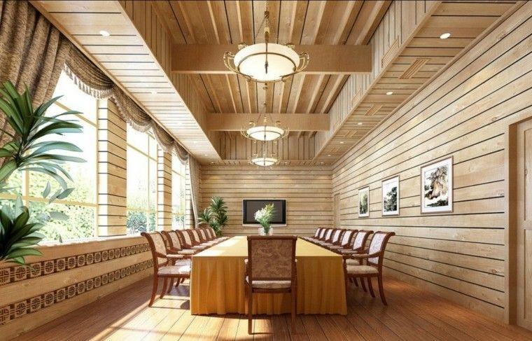 techos de madera cincuenta ideas modernas. Black Bedroom Furniture Sets. Home Design Ideas