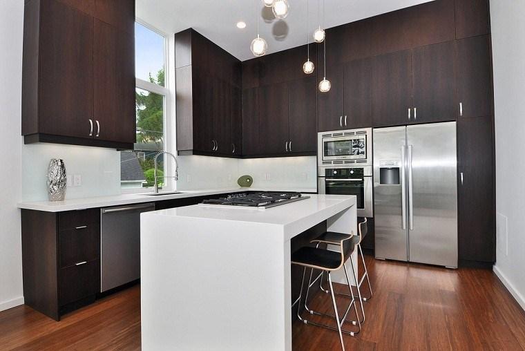 Taburetes de cocina el mueble que no te puede faltar for Wenge kitchen designs