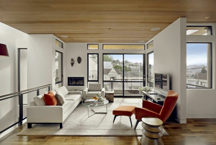 techo liso madera clara pino