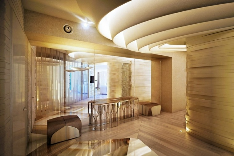 techo redondo nivelado salon