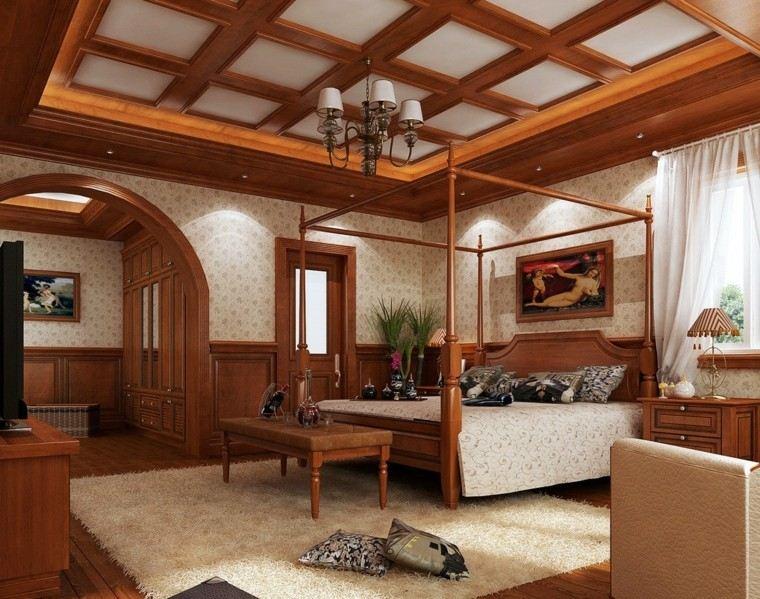 Techos de madera cincuenta ideas modernas - Techos de madera interiores ...
