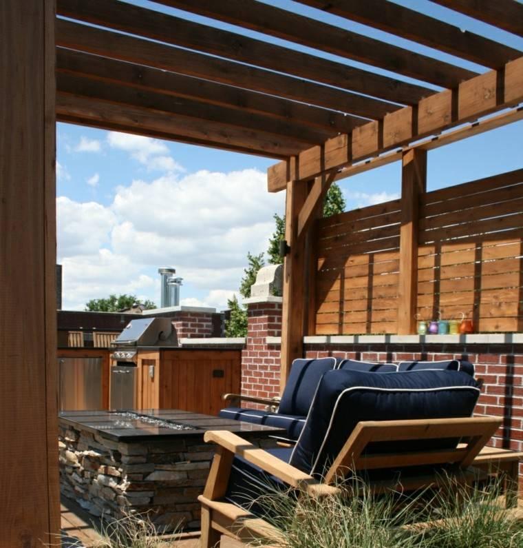 Pergolas de madera para el jard n cincuenta ideas - Terrazas con pergolas de madera ...