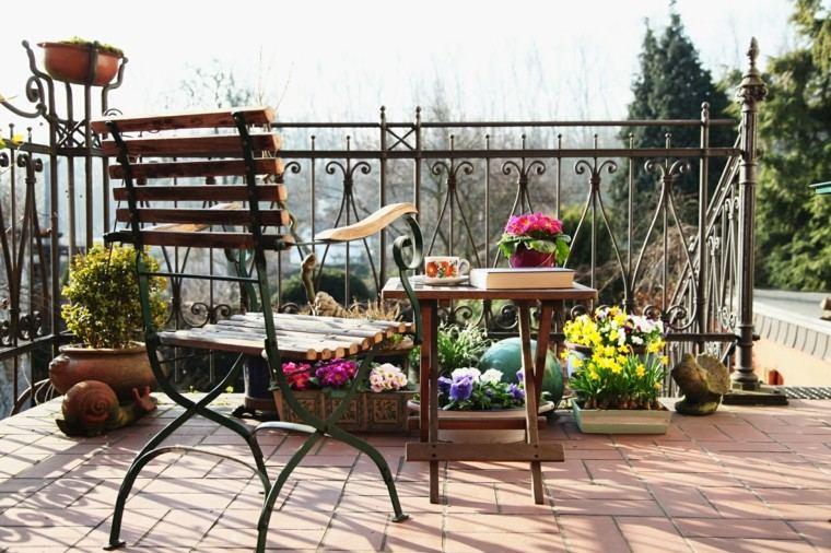terraza mesa pequena madera plegable ideas